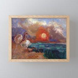 Saint George and the Dragon by Odilon Redon Framed Mini Art Print