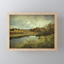 While we wait, we shine. Framed Mini Art Print