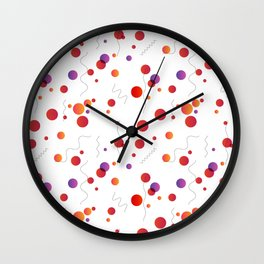 Abstract seamless pattern with circles and lines Wall Clock