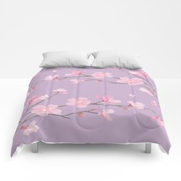 Cherry Blossom - Pale Purple Comforters
