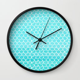 Let´s be mermaids- Aqua Mermaidscales - into the Sea Wall Clock