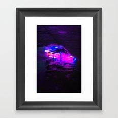 Wet Neon Framed Art Print