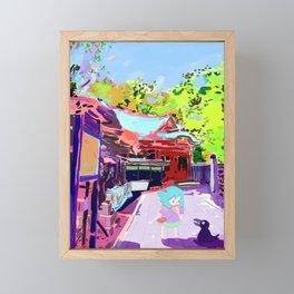 Enoshima Island Framed Mini Art Print
