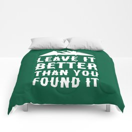 Leave It Better Than You Found It - Mountain Edition Comforters