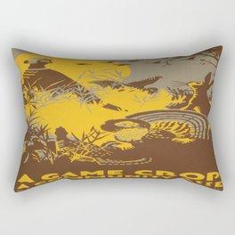 Vintage poster - Game Crop Rectangular Pillow