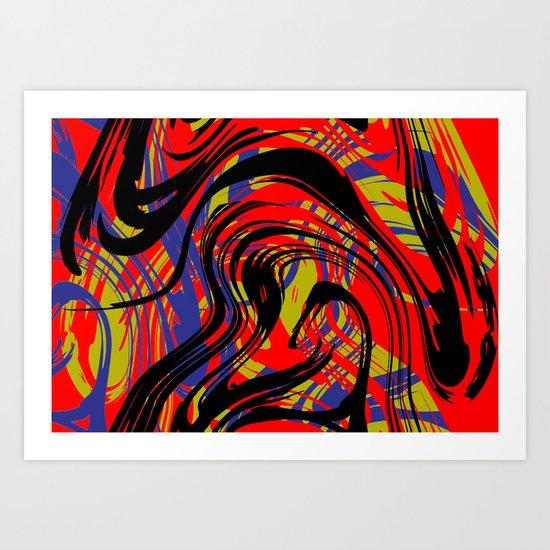 Move No.2  Digital Art Art Print