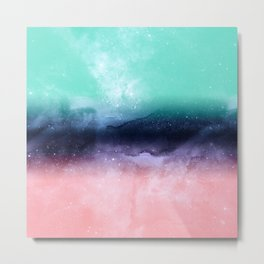 Modern watercolor abstract paint Metal Print