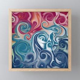 Fluids spirals Framed Mini Art Print
