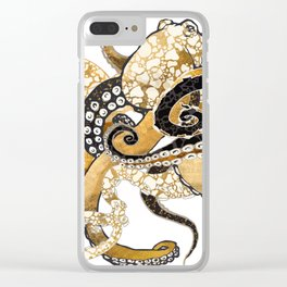 Metallic Octopus Clear iPhone Case