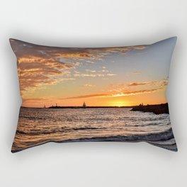 Toes Beach November Sunset Rectangular Pillow