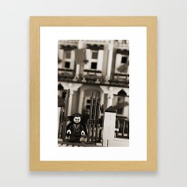 Leave while you can Framed Art Print