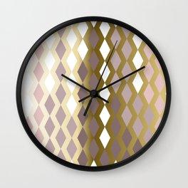 RHOMBUS ROSE GOLD Wall Clock