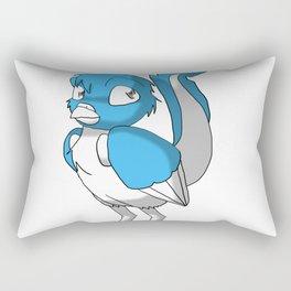 Light Blue/Color-Or-Paint-Your-Own Reptilian Bird #ArtofGaneneK #Animal Rectangular Pillow