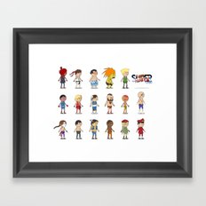 Super Street Fighter II Turbo Framed Art Print
