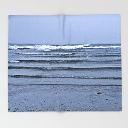 Stairway to the Sea Throw Blanket