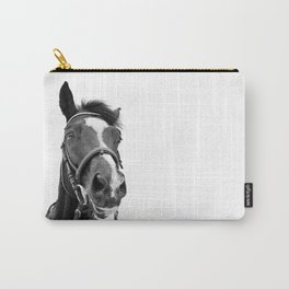 Horse Photo | Black and White Carry-All Pouch