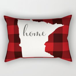 Minnesota is Home - Buffalo Check Plaid Rectangular Pillow