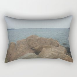 the Rocks at Oyster Bay Rectangular Pillow