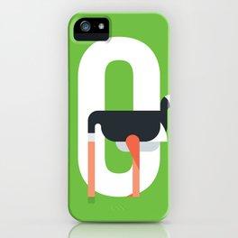 Animal Alphabet O iPhone Case