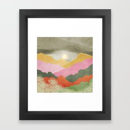 Colorful mountains Framed Art Print