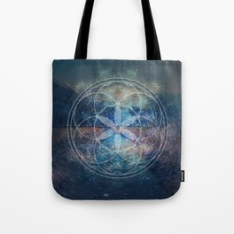 Sacred Geometry Universe X Tote Bag