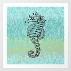 Seahorse ~ The Summer Series Art Print