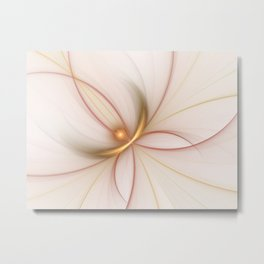 Nobly In Gold And Copper, Fractal Art Metal Print