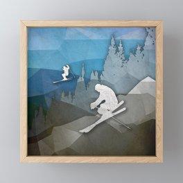 The Skiers Framed Mini Art Print