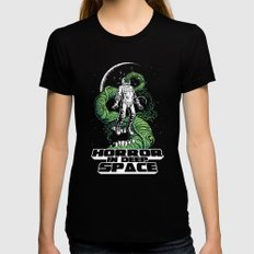 Horror In Deep Space SMALL Womens Fitted Tee Black