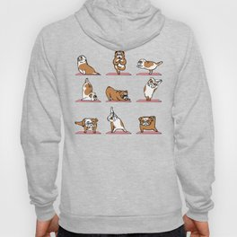 English Bulldog Yoga in Pink Hoody