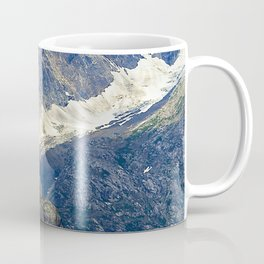 Alaska's Rugged Mountains Framed by Misty Clouds Coffee Mug