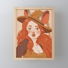 Portrait of a Witch Framed Mini Art Print