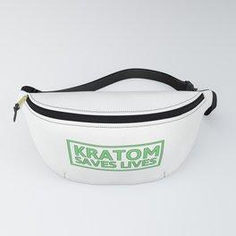Kratom Saves Lives | Art Work Gift Fanny Pack