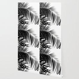 Palm Leaves Black & White Vibes #3 #tropical #decor #art #society6 Wallpaper