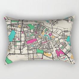Colorful City Maps: Amsterdam, Netherlands Rectangular Pillow