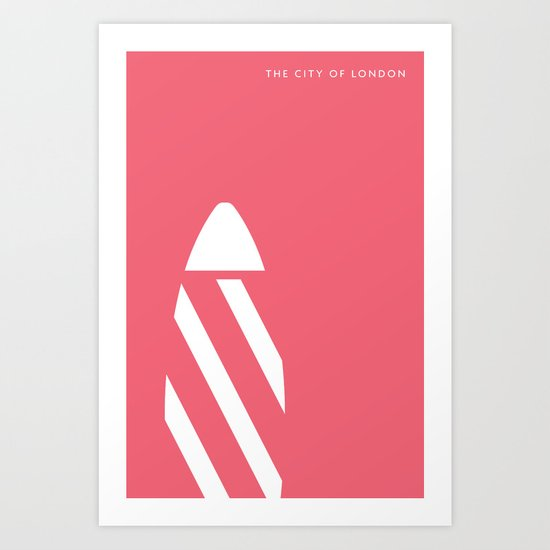 "Iconic London: The ""Gherkin"" Art Print"