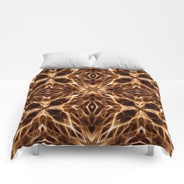 Abstract Geometric Light Factual Copper Comforters