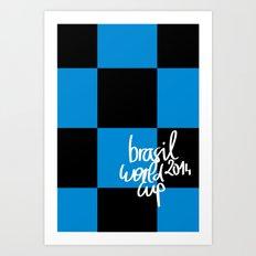 Brazil World Cup 2014 - Poster n°7 Art Print
