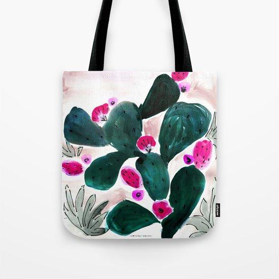 Cactus Prickly Pear Tote Bag