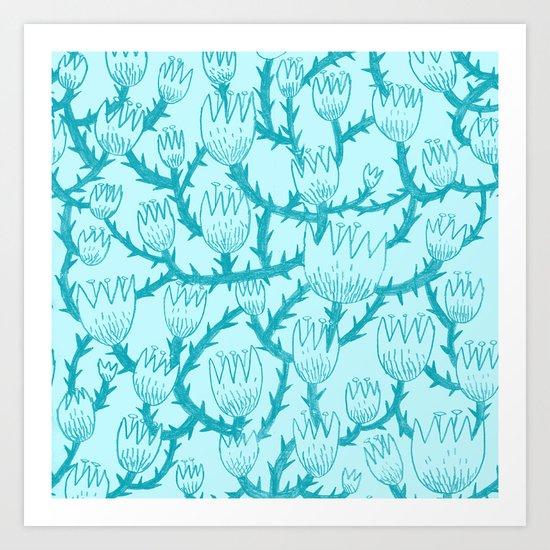 Mint Thorn Art Print