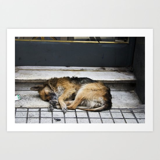 Let Sleeping Dogs Lie Art Print