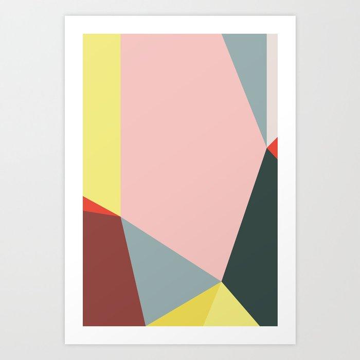 Polygonal Composition n° 1 Art Print