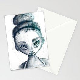 Sporty girl Stationery Cards
