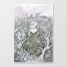 Mother Earth was a child once Canvas Print