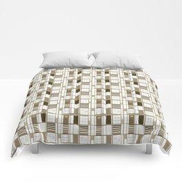 Beige Cuadricula Comforters
