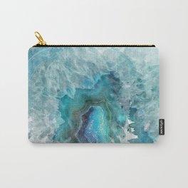 Blue Aqua Agate Carry-All Pouch