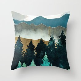 Forest Mist Throw Pillow