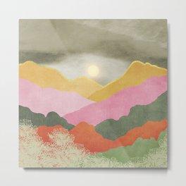 Colorful mountains Metal Print