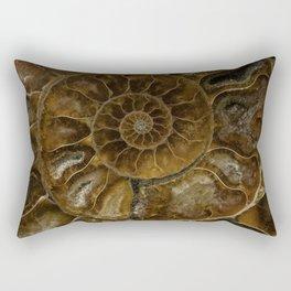 Earth treasures - brown amonite Rectangular Pillow