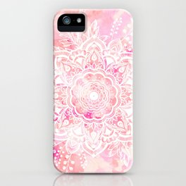 Queen Starring of Mandalas-Rose iPhone Case